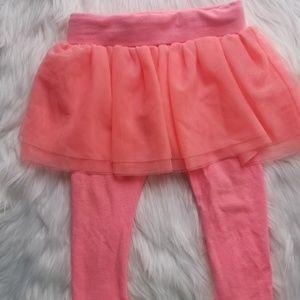 Oshkosh// Coral leggings with attached tutu skirt